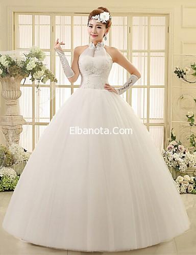 0b88a16d04c78 فساتين زفاف دانتيل منفوشة ، موديلات فساتين اعراس 2015